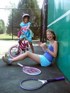Girls Bicycle Tennis